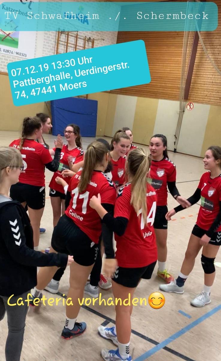 Am letzten Samstag holen die Mädels des TV Schwafheim bei der HSG Isselburg verdient beide Punkte